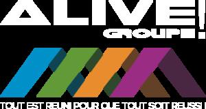 Image du logotype de Alive Groupe en blanc